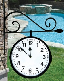 Poolmaster Dual-Sided Hanging Clock
