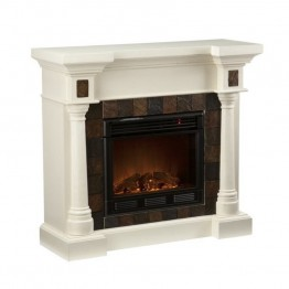 Southern Enterprises Carrington Slate Convertible Fireplace in Ivory