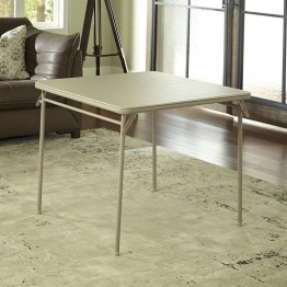 Cosco Square Vinyl Folding Table in Antique Linen