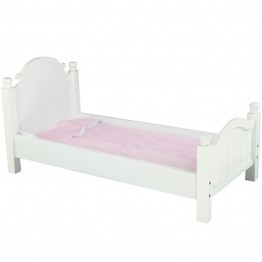 Olivia's Little World Doll Furniture Bed in White