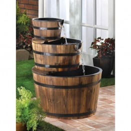 Zingz and Thingz Apple Barrel Fountain