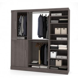 Bestar Nebula 80'' Storage Kit in Bark Grey