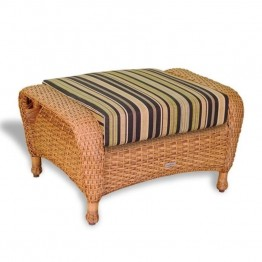 Tortuga Lexington Patio Ottoman-Mojave and Rave Spearmint