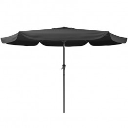 Sonax CorLiving Tilting Patio Umbrella in Black