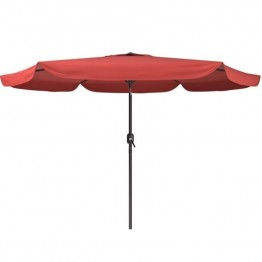 Sonax CorLiving Tilting Patio Umbrella in Wine Red