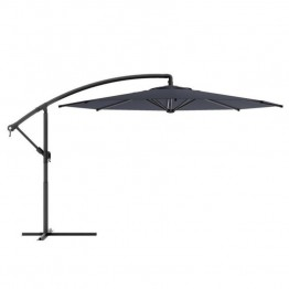 Sonax CorLiving Offset Patio Umbrella in Black