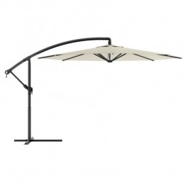 Sonax CorLiving Offset Patio Umbrella in Warm White