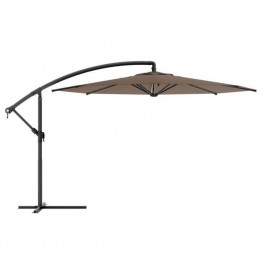Sonax CorLiving Offset Patio Umbrella in Sandy Brown