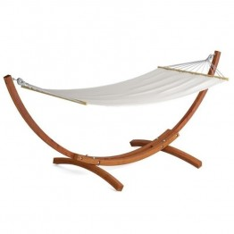 Sonax CorLiving Wood Canyon Patio Hammock in Cinnamon Brown Stain