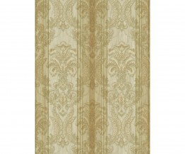 Ornated Floral Damask Stripes Gold 5781-30 Wallpaper