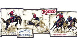 Black Framed Rodeo Scene Photos 5814620 Wallpaper Border