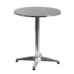 "Flash Furniture Aluminum 23.5"""" Round Bistro Table"