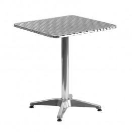"Flash Furniture Aluminum 23.5"""" Square Bistro Table"
