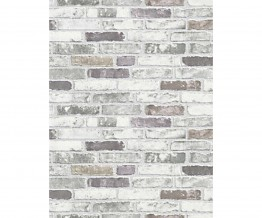 White Grey 6703-10 Brick Wallpaper