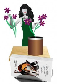 Florist Business Card Holder