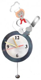 Tick Tock Female Chef Wall Clock