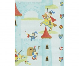 Dragon Castle Stripes Blue 7327-08 Wallpaper