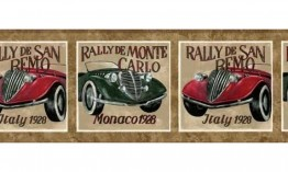 Brown Framed Vintage Cars AW619 Wallpaper Border