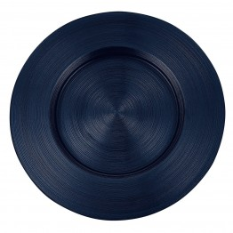 Metallic Midnight Blue Glass Charger