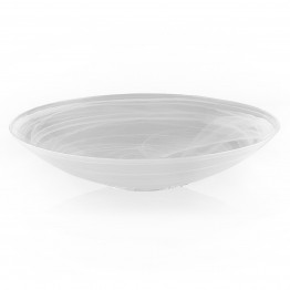 Alabaster White 15 inches Centerpiece Bowl