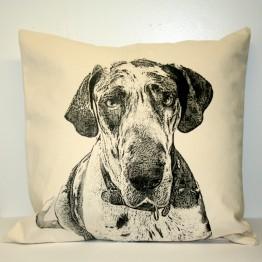 Great Dane Decorative Pillow Large