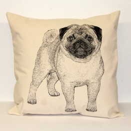 Pug Decorative Pillow Large