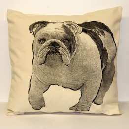 Bulldog Decorative Pillow Large