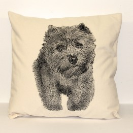 Cairn Terrier Decorative Pillow Large
