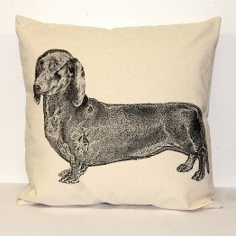 Dachsund Decorative Pillow Large