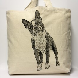 Boston Terrier Tote Bag Large