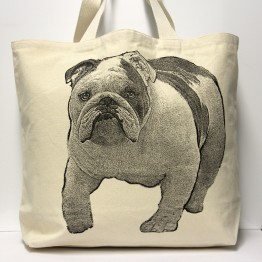 Bulldog Tote Bag Large