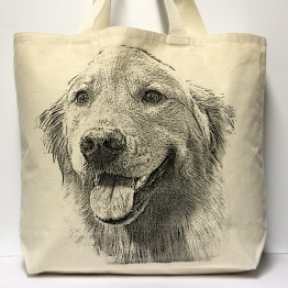 Golden Retriever Tote Bag Large