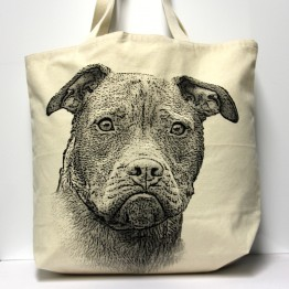 Pitbull Tote Bag Large