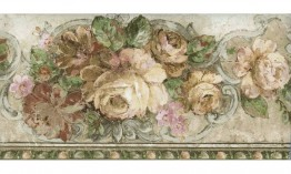 Bloomed White Roses ED76260 Wallpaper Border