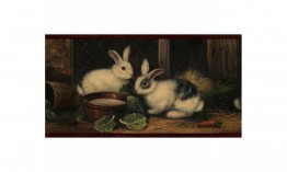 Burgundy Country Rabbits GG54062 Wallpaper Border