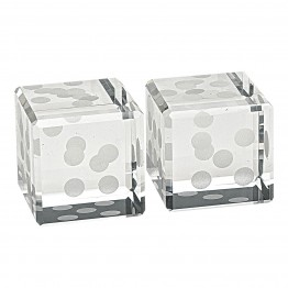 Crystal Pair of Dice H 1.5 inches