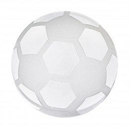 Crystal Soccer Ball Paperweight 3 in.