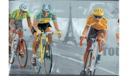 Brown Paris Cycling IN2622 Wallpaper Border