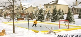 NiceRink 20' x 40' Rink-In-A-Box Backyard Ice Rink