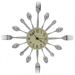 Fork and Spoon 16-Dial Clock