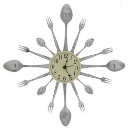 Spoon and Fork 16-Dial Clock