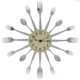 Fork and Spoon Variety 16-Dial Clock