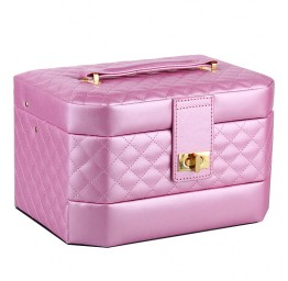 Pink Medium 2 Drawers Jewelry Box