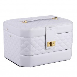 White Medium 2 Drawers Jewelry Box