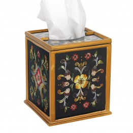 Gemstone Black Tissue Holder