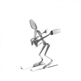 Downhill Skier Display Spoon