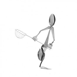 Lacrosse Player Display Spoon