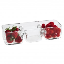 Hostess 3 Section Serving Dish 12 x4.5 inches