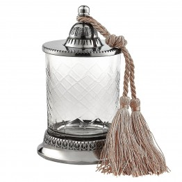Jar With Tassel   No Candle H6.5 inches