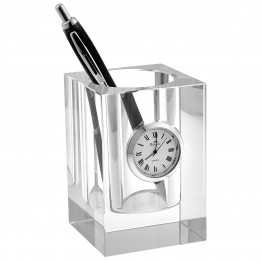 Pencil Holder with Clock 3.5 inches